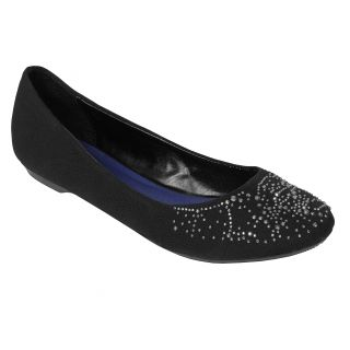 Madden Girl by Steve Madden Rhinestone Embellished Fabric Flats