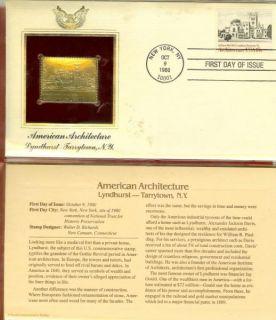 Lyndhurst Tarrytown NY 22K Gold Stamp Replica