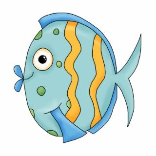Cute Little Tropical Ocean Fish Cartoon Character Cut Outs