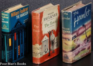 Faulkners Snopes Trilogy Hamlet Town Mansion Ct First Editions in DJs