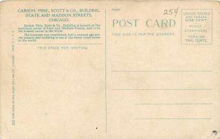 Pirie Scott Co Department Store Crowds Trolleys Madison St 1915