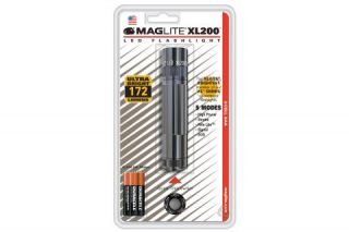 Maglite XL200 3 Cell AAA LED Flashlight Gray Blister Pack S3096 XL200