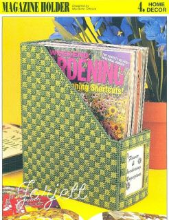 Magazine Holder Annies Plastic Canvas Pattern