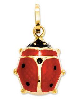 14k Gold Charm, Red Enamel Ladybug Charm   Bracelets   Jewelry