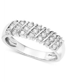 Diamond Ring, 14k White Gold Diamond Band (1/5 ct. t.w.)