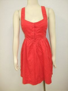 Maeve Anthropologie Bright Red Corduroy Dress 12
