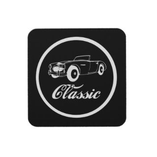 Classic Car Fifties Convertible Sporstcar Drink Coasters