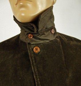 CP Company Mens Italian Designer Wool Lined Brown Cord Coat Jacket