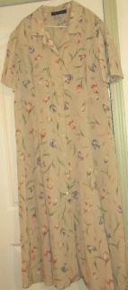 Maggie McNaughton Light Beige Pretty Floral Dress 20W