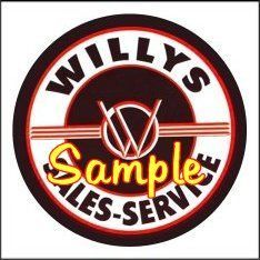 Willys Service 3x3 Sticker Decals Vinyl Signs Gas Globes