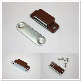Brown Magnetic Furniture Door Catch Latch Cabinet Hardware Korea UC 71