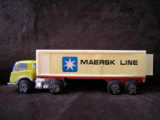 Maersk Line Semi Truck Advertising Mini Toy Vintage