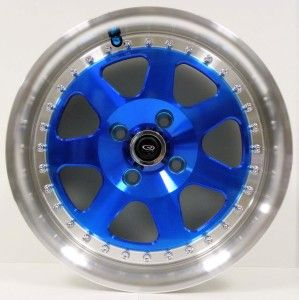15 Rota Jmag J Mag Wheels Tires 4x100 Blue Honda Civic
