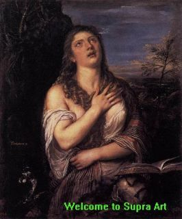 Penitent St Mary Magdalene Titian Repro Oil Painting