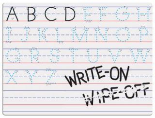 Magnetic Dry Erase Board 9 x 12 Traditional Manuscript