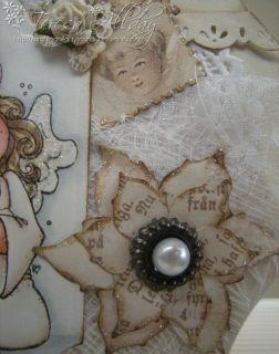 Hand Made Christmas Card Magnolia Tilda ♥