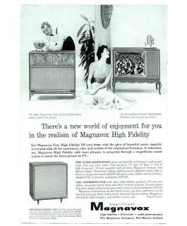 1957 Magnavox TV Hi Fi Magazine Ad
