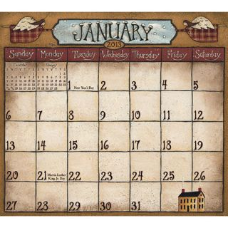 Folk Art by David 2013 Magnetic Mount Wall Calendar