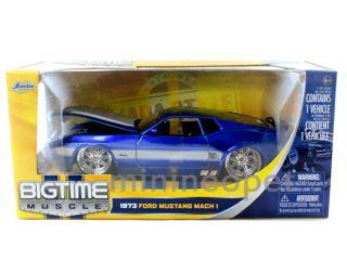 Jada 1973 73 Ford Mustang Mach 1 1 24 Diecast Dub Wheels Blue