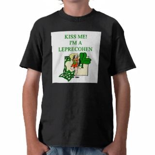 st patricks day leprechaun jewish irish joke shirts