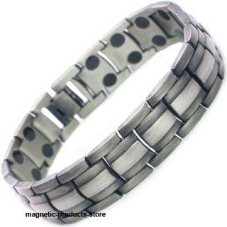 Mens Powerful Therapeutic Gun Metal Magnetic Bracelet