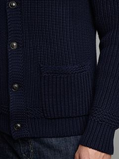 Polo Ralph Lauren Chunky shawl neck jumper Navy