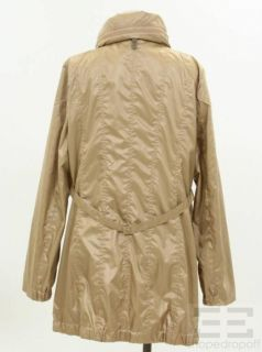 Mackage Tan Leather Trim Zip Up Jacket Size Large
