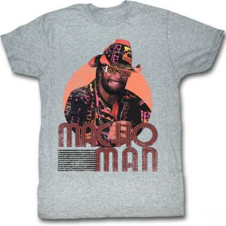 Macho Man Randy Savage Mackin and Smackin Grey T Shirt