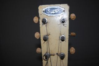 Vintage Supro Lap Steel Guitar Totem Pole Markers Works Great