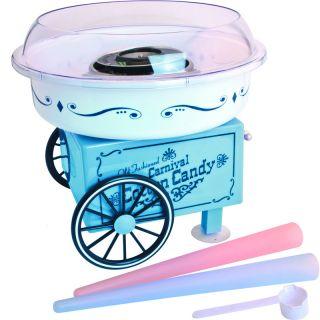 Mini Cotton Candy Maker Machine ~ Hard Life Saver Blue Electric Floss