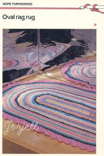 Oval Rag Rug Quick N Easy Scalloped Crochet Pattern