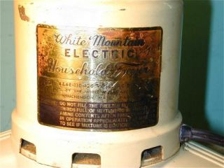 WHITE MOUNTAIN ELECTRIC HOUSEHOLD FREEZER ICE CREAM MAKER   MOD 4&6E