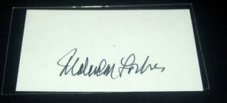 Out Magazine Publisher Malcolm Forbes Signed Index Card D 1990