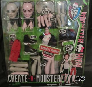 NIB Monster High Create A Monster Doll Gargoyle and Vampire Boys