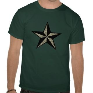 Camo Nautical Star T Shirt