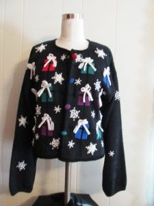 Womens by  Mandel Bay  Christmas Holiday Seasonal Sweater Size 8P