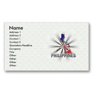 Philippines Flag Map 2.0 Business Card