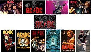 Lot of 11 Classic AC/DC Rock Music Band Fridge Magnet Gift
