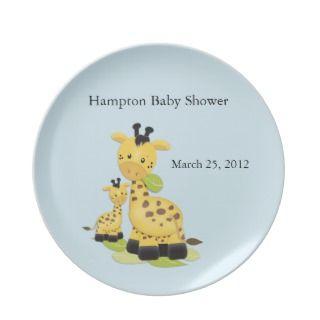 Giraffe Baby Shower Plate