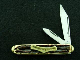Vintage USA Mammoth Cave Ad Stag Pocket Pen Knife Hunting Vintage