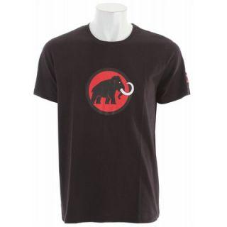 Mammut Logo T Ski Snowboard Shirt Black Inferno Mens Sz L