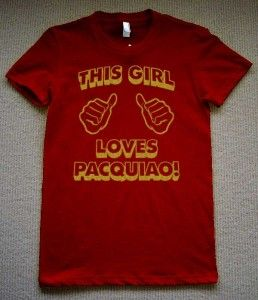 Manny Pacquiao T Shirt Womens Pacman Boxing Fight Tee