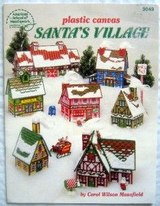 Plastic Canvas Christmas Village Pattern Books You Choose