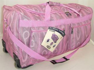 Ladies Frenzy Animal Print Travel Luggage Wheelie Holdall Case
