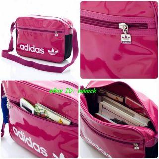 Adidas ADICOLOR Coated Airline Bag Pink White Shoulder