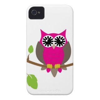Hot pink owl i phone case iPhone 4 Case Mate case