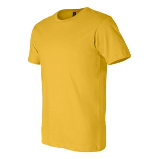 Canvas Mens Unisex Crewneck T Shirt Tee XS 2XL Mens Short Sleeve Crew