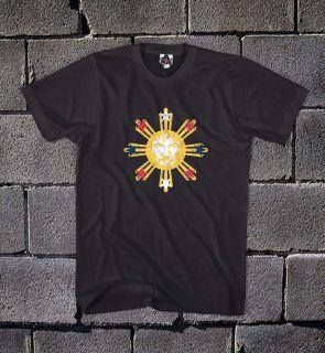 Manny Pacman Pacquiao Phillipine Sun Flag Boxing Cool Black T Shirt