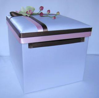 Wedding Reception Orchid Card Money Box Purple Lavender