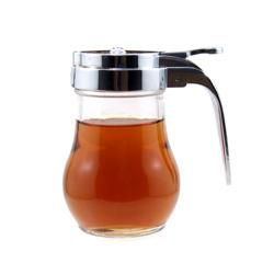 Maple Syrup or Honey Dispenser 14 oz Spring Loaded Glass Syrup Holder